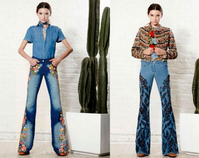 джинсы-клеш