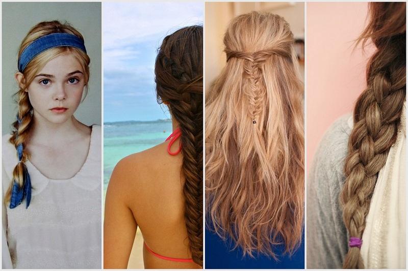 косы на средние волосы 2