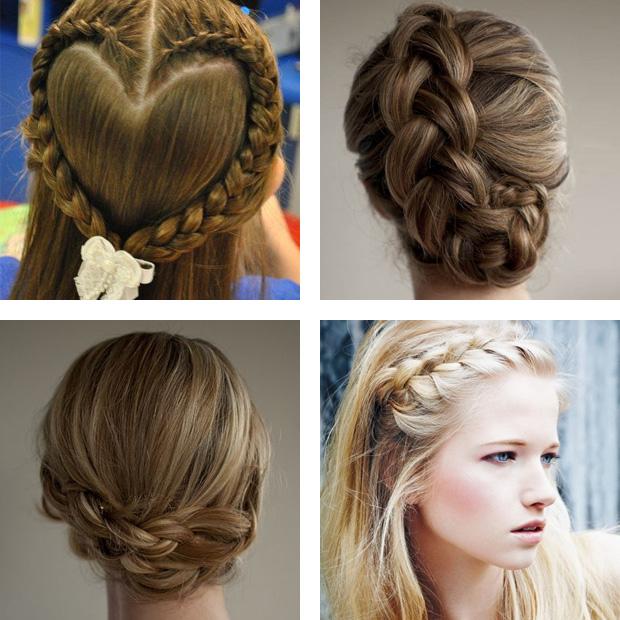 косы на средние волосы 3