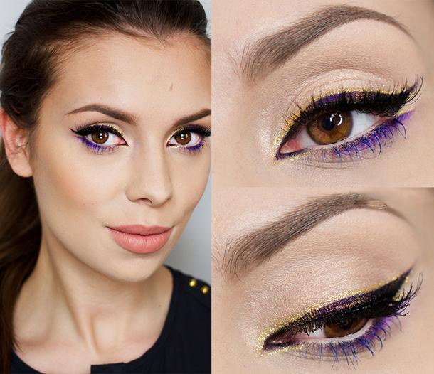 макияж с акцентом на глаза