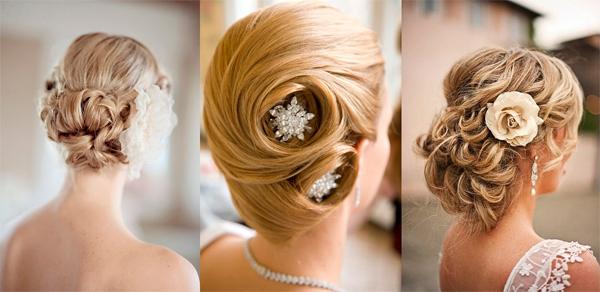 свадебные прически на средние волосы осень-зима 2016-2017