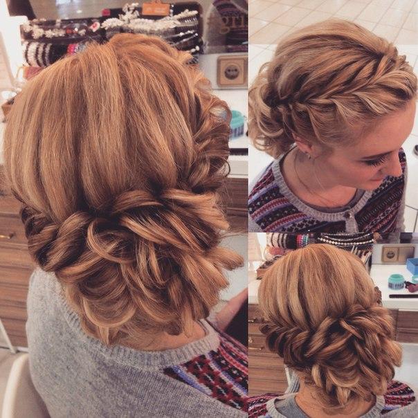 свадебные прически на основе кос (плетений)