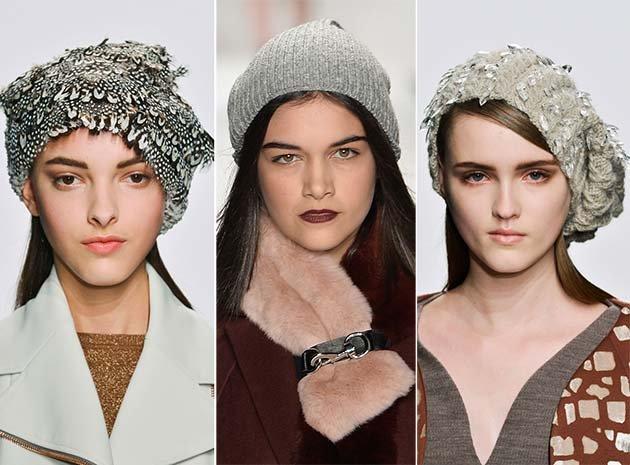Модные вязаные береты зима 2017