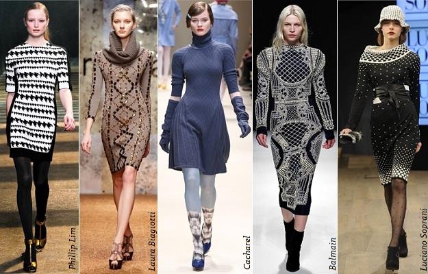 вязаные платья зима 2017 2