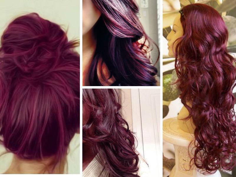 винный цвет волос и оттенок марсала