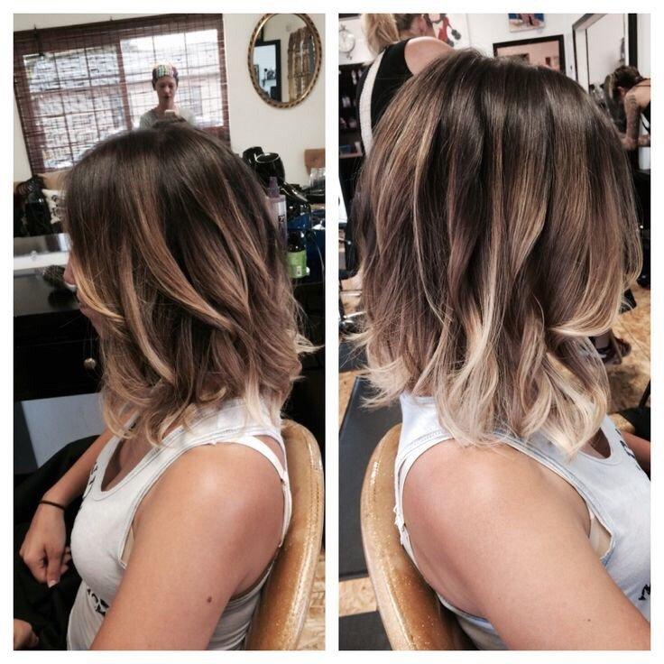 Окрашивание на средние волосы фото