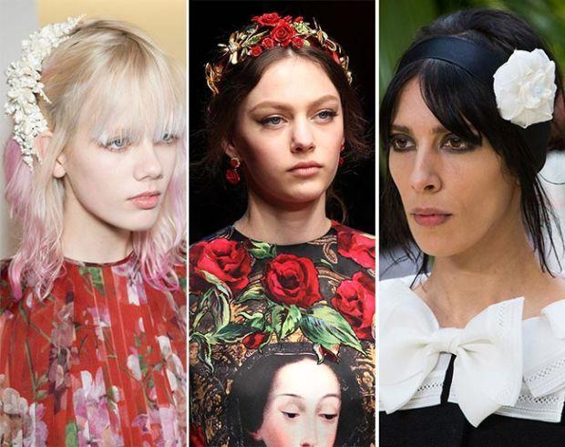 ободки для волос с искусственными цветами 2017, новинки и фото идеи 2