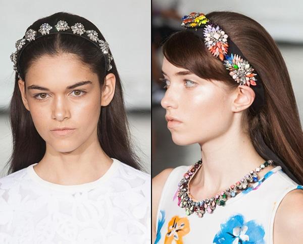 модные ободки 2017 с камнями для волос, новинки и фото идеи 1