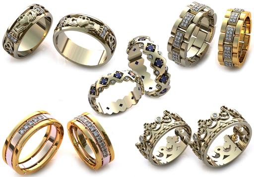 оригинальные обручальные кольца 2017 1