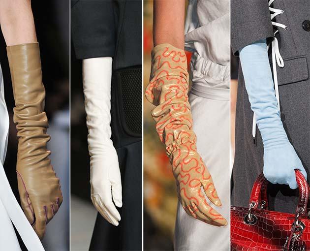 модные длинные перчатки 2