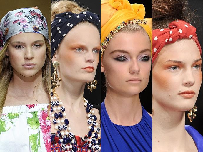 Модный платок на голову 52