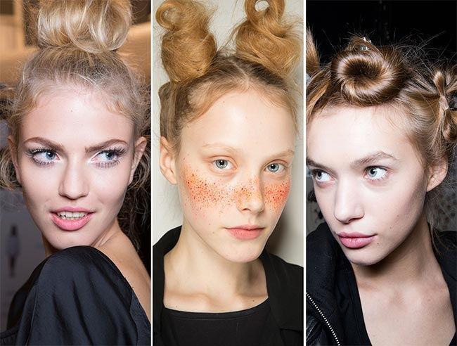 модный пучок из волос 2017, фото