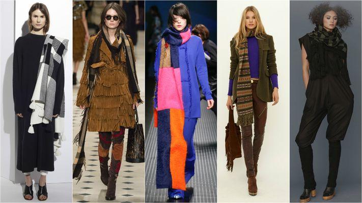 модные шарфы на осень и зиму 2016-2017, фото 2