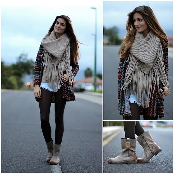 шарфы с бахромой 1