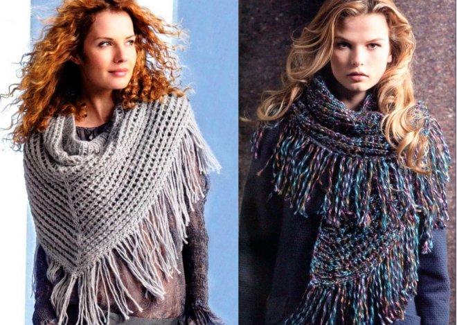 шарфы с бахромой 2