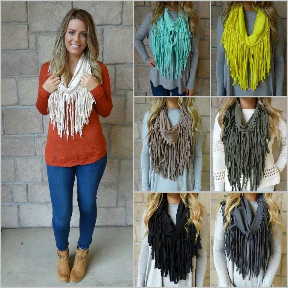 шарфы с бахромой 3