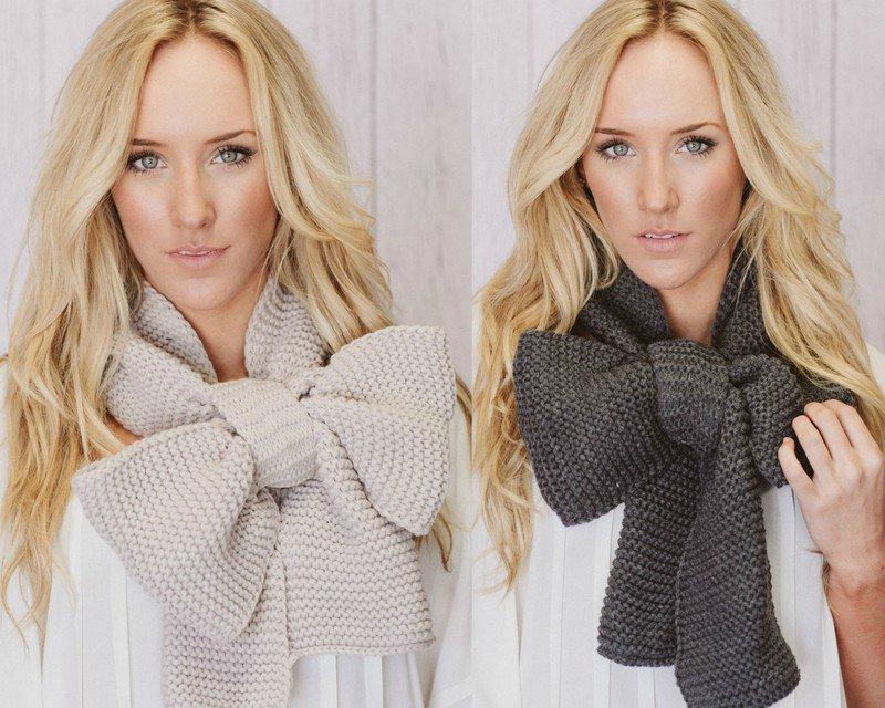 вязаные шарфы 1