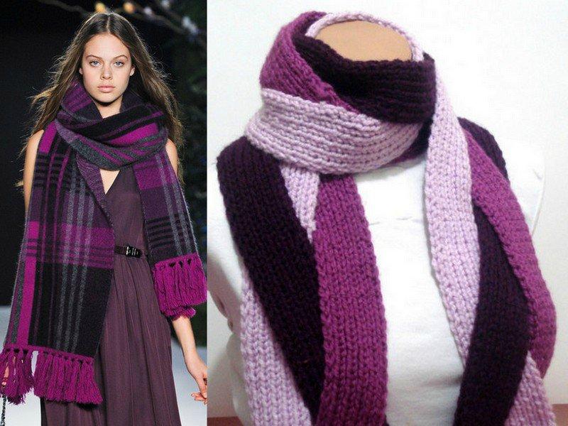 вязаные шарфы 2