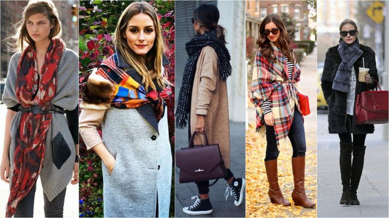 модные длинные шарфы осень-зима 2016-2017
