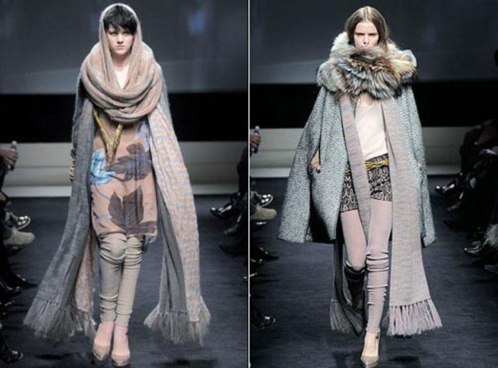 объемные шарфы-боа