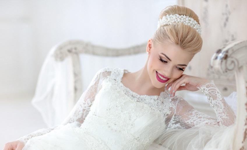 фото модных и красивых свадебных причесок осенне-зимнего сезона 2016-2017 5