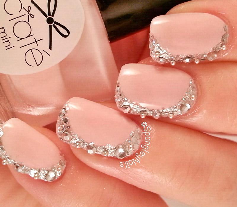 свадебный маникюр 2018, модная форма ногтей 2