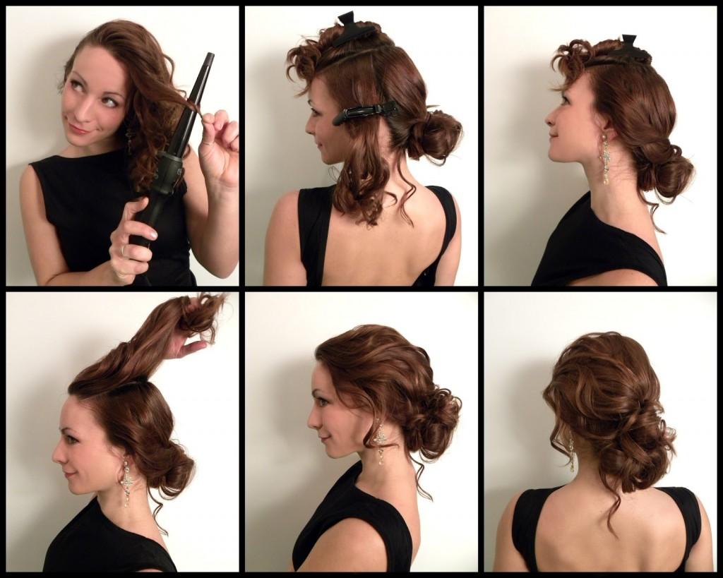 торжественные прически на средние волосы 2017: мастер-классы + фото
