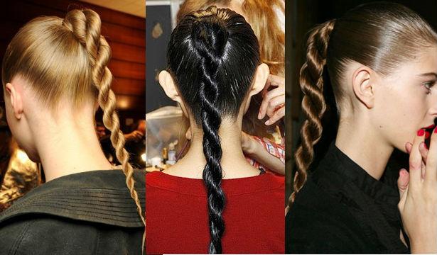 жгутики из волос