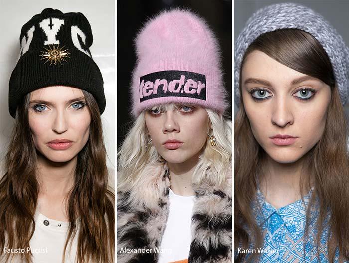 модные вязаные шапки осень-зима 2016-2017, фото новинки 1