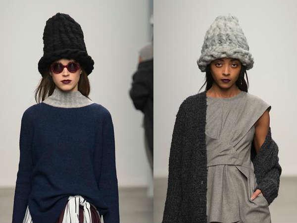 вязаные шапки осень-зима 2016-2017, модные тенденции 1