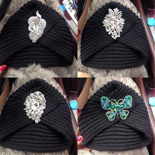 шапка тюрбан - фасон женского вязаного головного убора 1