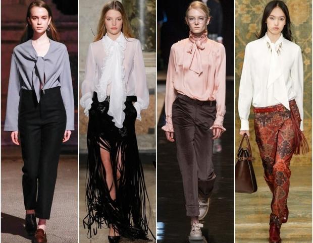 трикотажные и кожаные рубашки и блестящие блузки 1