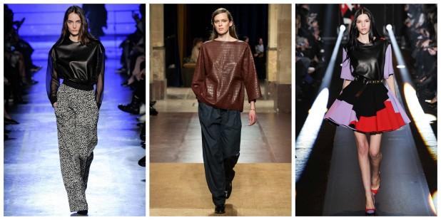 трикотажные и кожаные рубашки и блестящие блузки 2