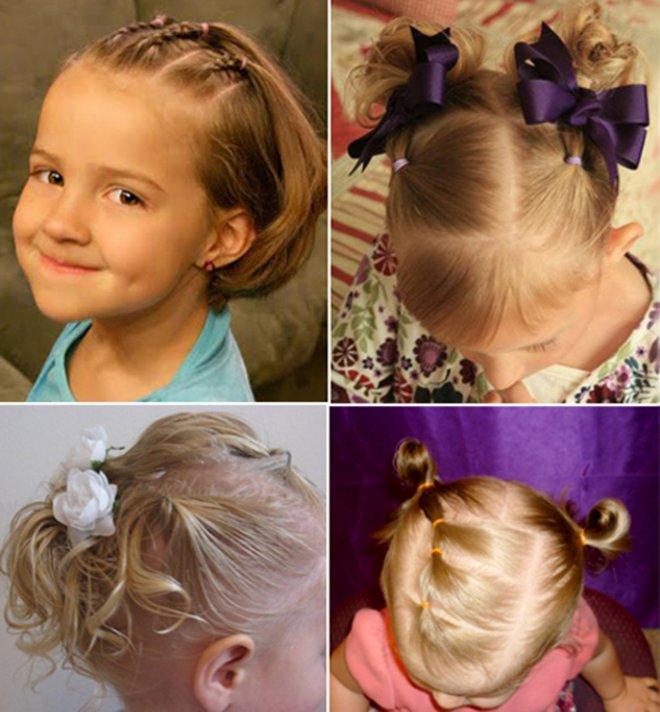 фото детских причесок для девочек на короткую длину волос 1