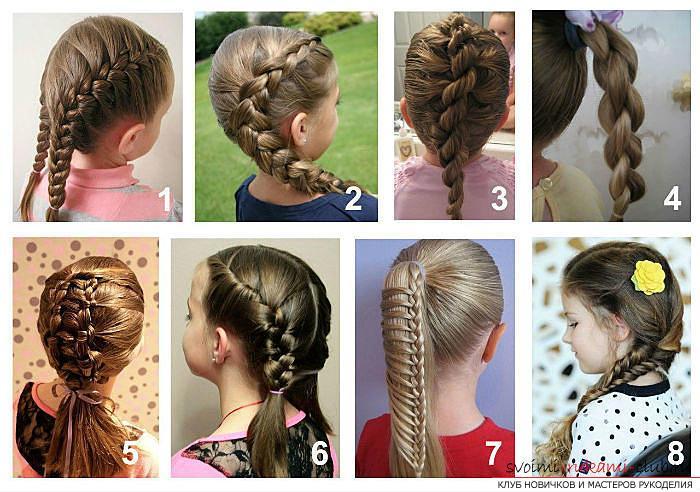 фото детских причесок для девочек на среднюю длину волос