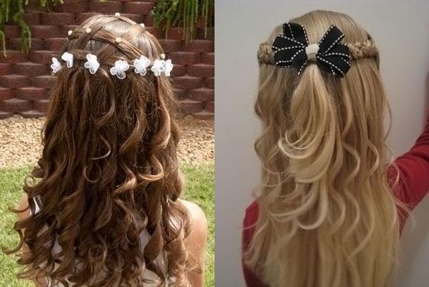фото детских причесок для девочек на длинные волосы 1