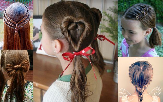 фото детских причесок для девочек на длинные волосы 2