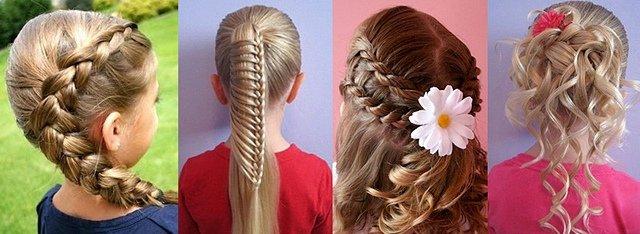 фото детских причесок для девочек на длинные волосы 3