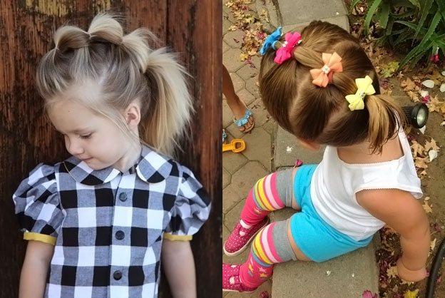 фото детских причесок для девочек на короткую длину волос 2