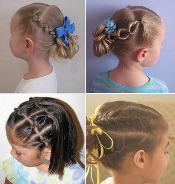 фото детских причесок для девочек на короткую длину волос 3