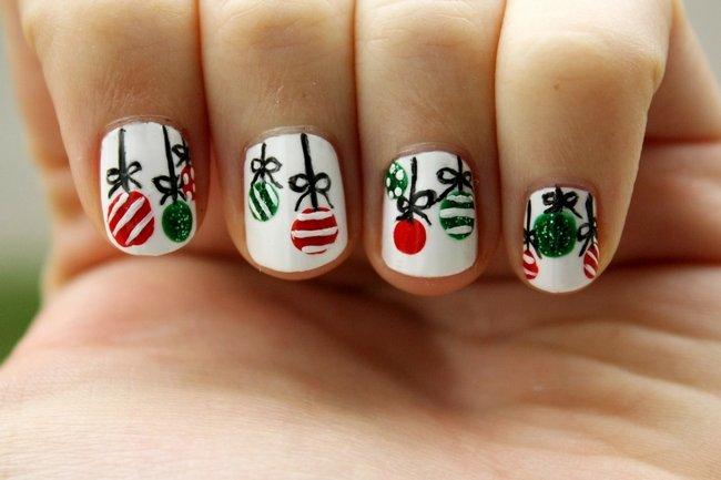 модный и красивый дизайн ногтей на Новый год 2018 фото 1