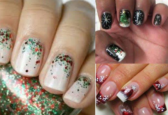 модный и красивый дизайн ногтей на Новый год 2018, фото 5