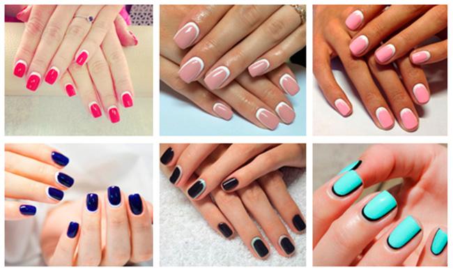 Маникюр 2016 модные тенденции фото френч на короткие ногти фото