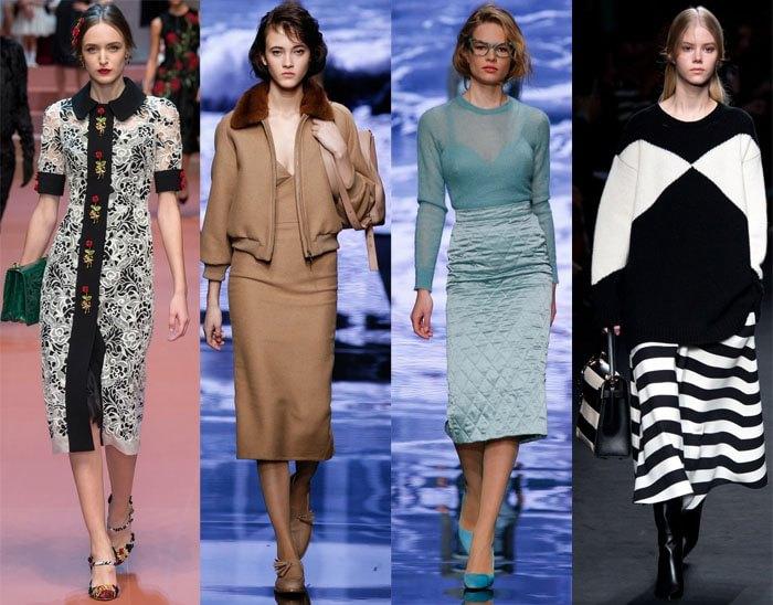 юбки осень-зима 2016-2017, модные тенденции 1