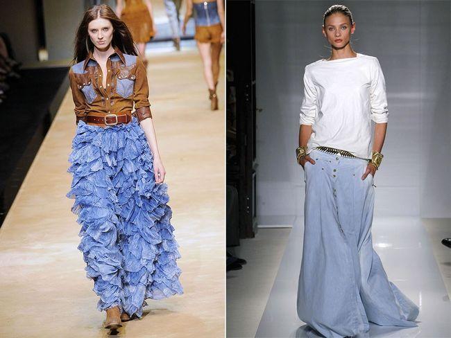 юбки с бахромой, оборками и складками 3