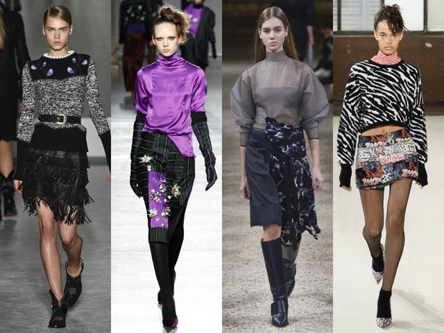 юбки осень-зима 2016-2017, модные тенденции 2