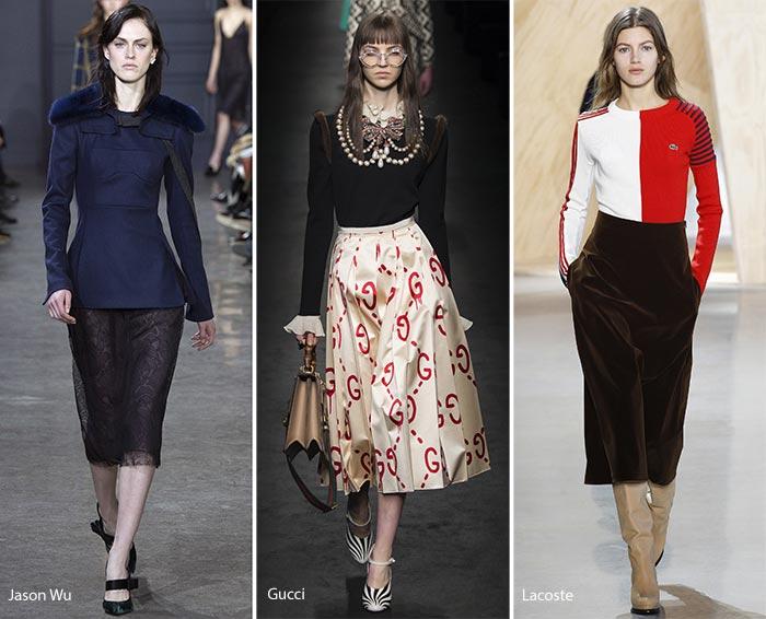 юбки осень-зима 2016-2017, модные тенденции 3