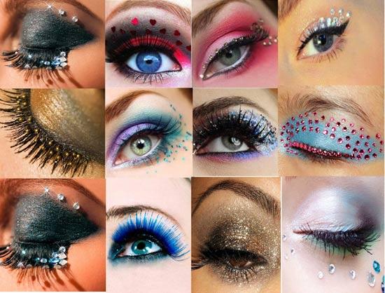 макияж со стразами 1