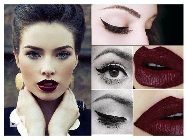 макияж с акцентом на губы