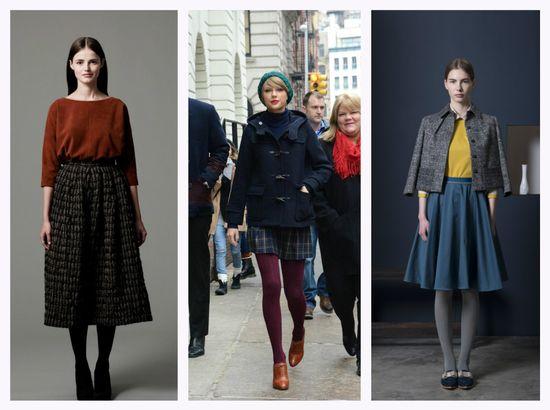 модные колготки (чулки) осень 2016 и зима 2017, с чем носить 5